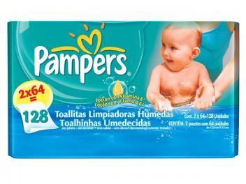 Lenços Umedecidos Pampers Baby Care - 128 Unidades