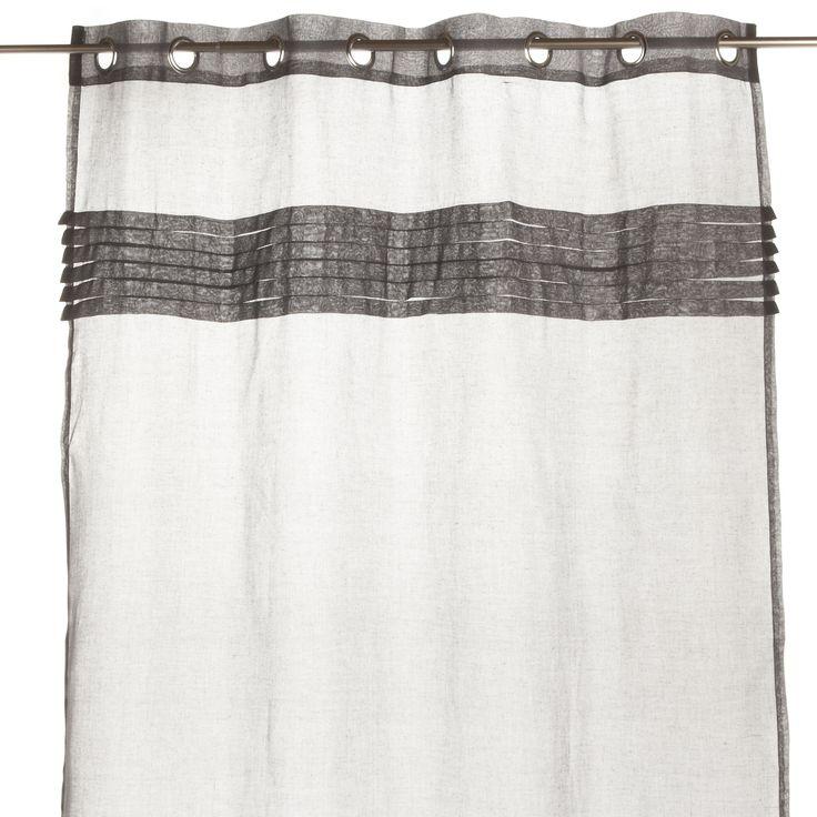 Voilage à œillets Gris - Correze - Les voilages - Textiles et tapis - Salon et salle à manger - Décoration d'intérieur - Alinéa