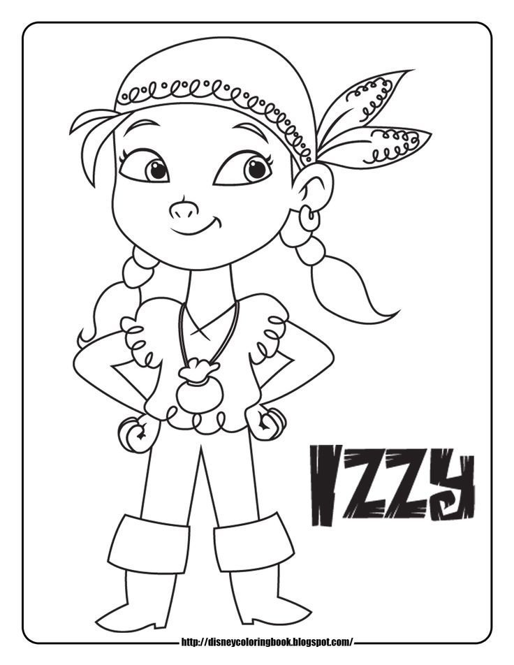 Disney Coloring Pages and Sheets for Kids: Jake and the Neverland Pirates 1: Free Disney Coloring Sheets