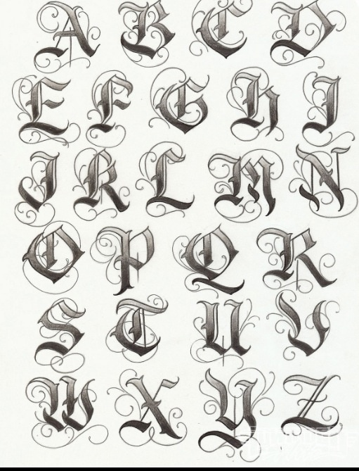 Worksheets A To Z Stylish Font Style 99 best images about drawings on pinterest wolves a wolf and sugar skull tattoos