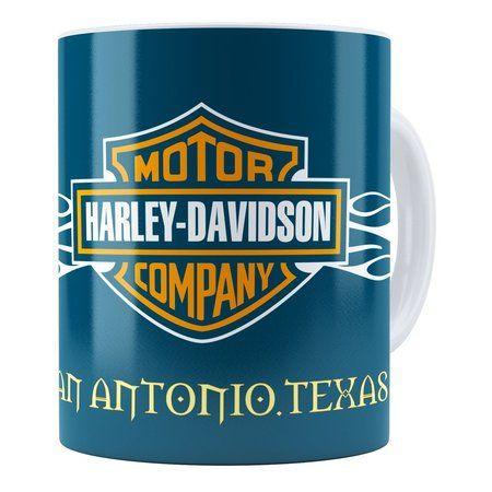 Caneca Personalizada Harley Davidson San Antonio Texas