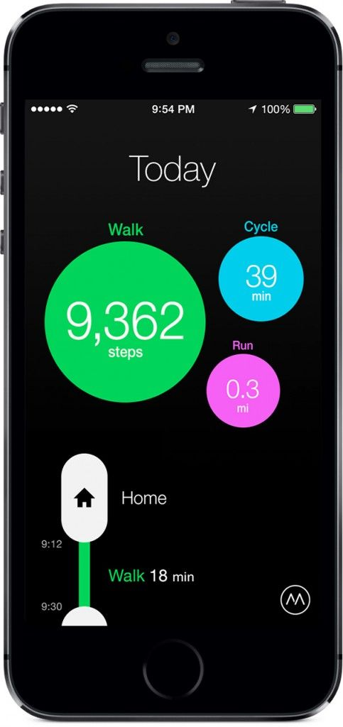 Moves App tracks all of your moves and calories burned.
