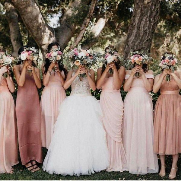 Allure 9425 Size 8 New Wedding Dress Front View On Bride Altrosa Brautjungfernkleider Kleid Hochzeit Brautjungfernkleider Rosa