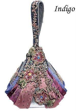 Mary Frances Designer Handbag 'Indigo Indulgence' New + Dustbag