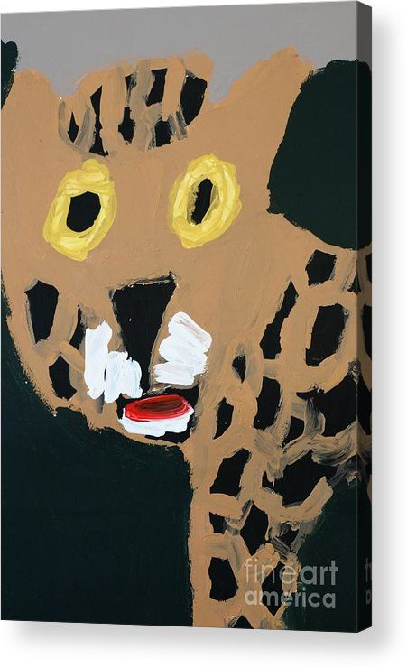 Patrick Francis Acrylic Print featuring the painting Jaguar 2014 by Patrick Francis