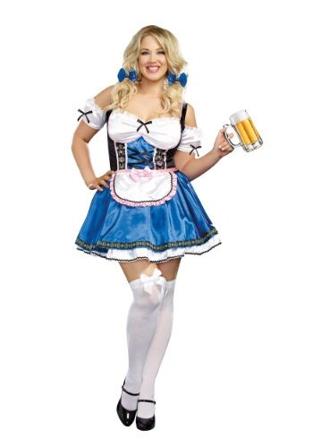Womens Plus Size Happy New Beer Costume