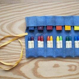 Felt Crayon Pouch for Stockmar Stick and Block Crayons.: Crayons Pouch, Crayons Rolls, Waldorf Art, Crayons Holders, Waldorf Crayons, Stars Crayons, Blocks Crayons, Art Supplies, Felt Crayons