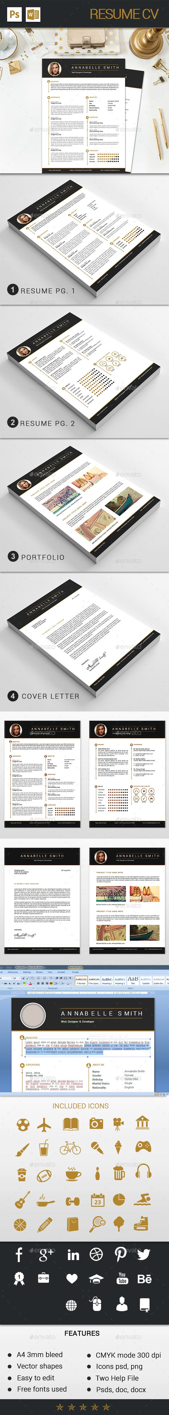 Resume / CV Template PSD. Download here: http://graphicriver.net/item/resume-cv/15234315?ref=ksioks