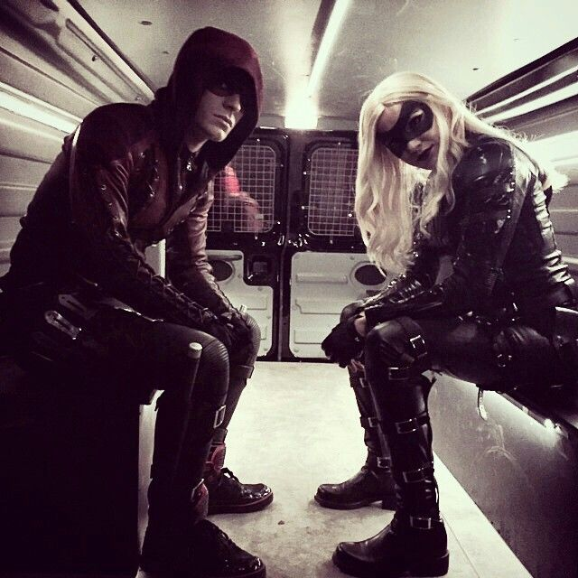 Arsenal by Colton Haynes & Black Canary by Katie Cassidy