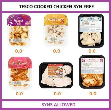 Tesco cooked chicken syn free