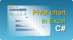 Export Excel with pivot chart using EasyXLS library! XLS, XLSX, XLSM, XLSB file in .NET. #EasyXLS #Excel #PivotChart #CSharp