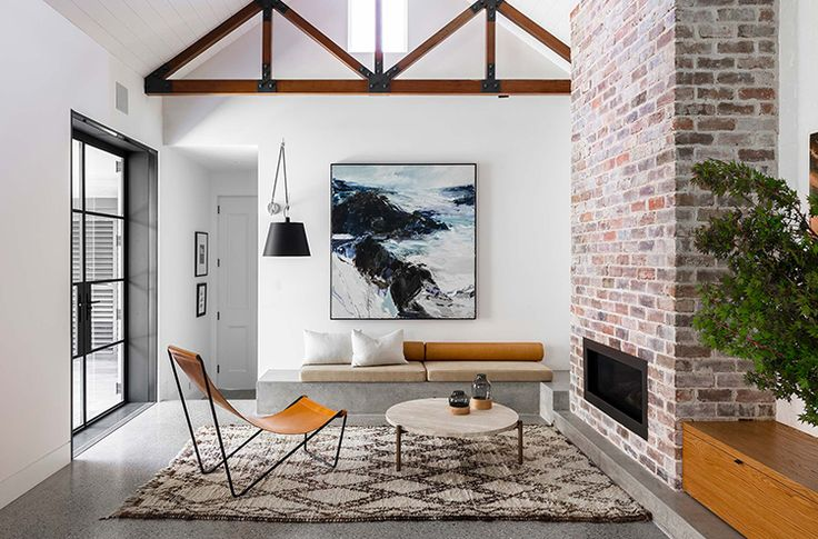 family room, texture mix,  by Arent&Pyke