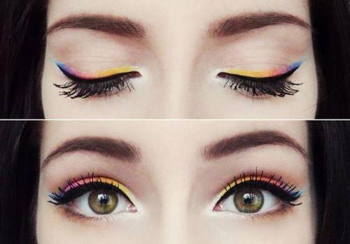 : Make Up, Eye Makeup, Style, Color, Rainbows, Beauty, Hair, Eyes