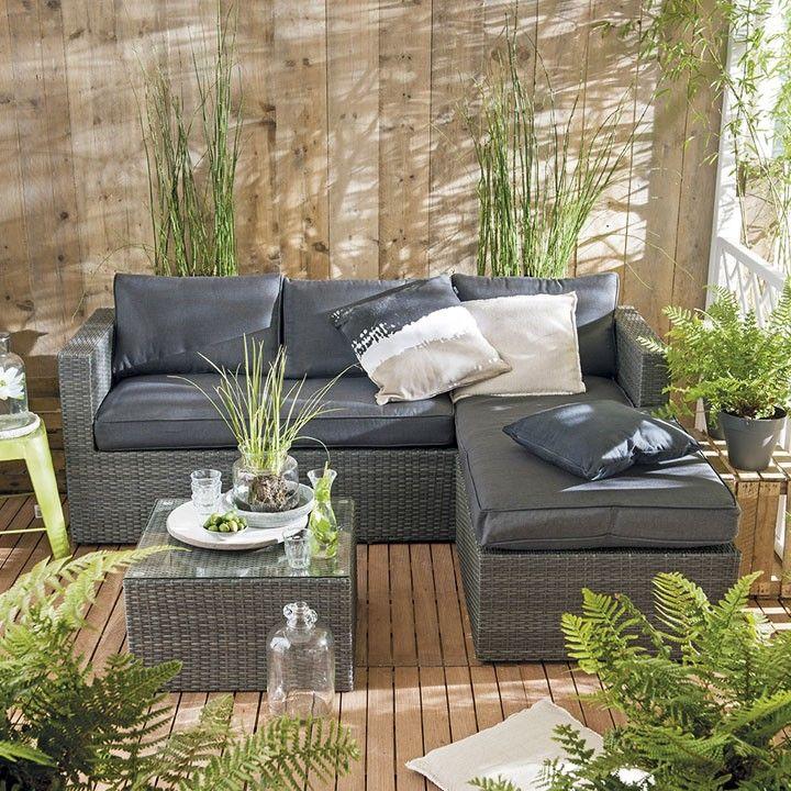 Lekker loungen op je balkon met Intratuin. #groen #intratuin #varen #loungen #tuinmeubelset #tuinmeubel #balkon #tuin #relaxen