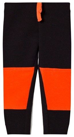 Benetton Black Colour Block Jogger With Knee Patches Detail