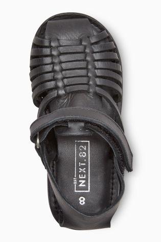 Купить Черные плетеные кожаные сандалии (Мальчики) from Next Russia