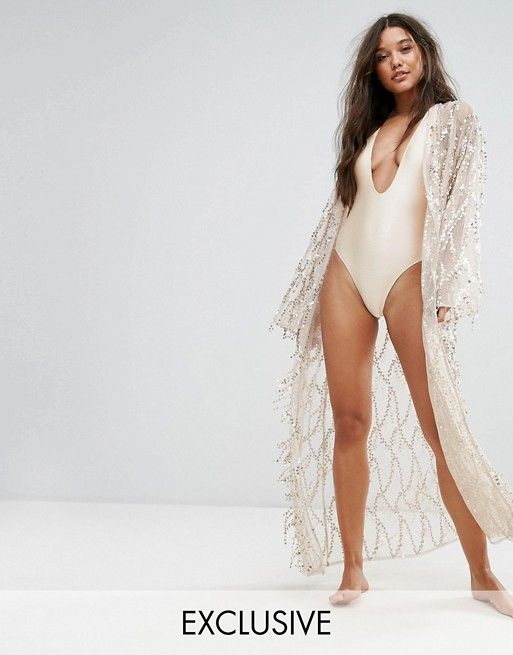 And Co Sequin Maxi Pool Party Beach Kimono £48.00