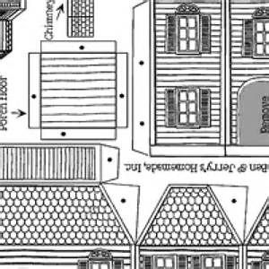victorian gingerbread house template pdf