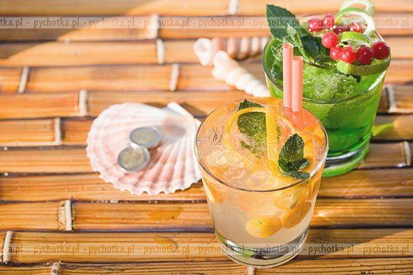 Pomarańczowy napój z winem musującym