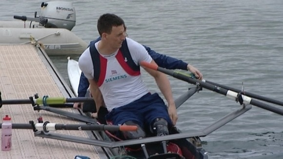 Nick Beighton lost both his legs in an explosion in Afganistan in 2009 and has been chosen to lead the GB rowing team!