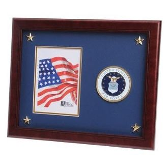 us air force medallion picture frame with star - Military Picture Frames