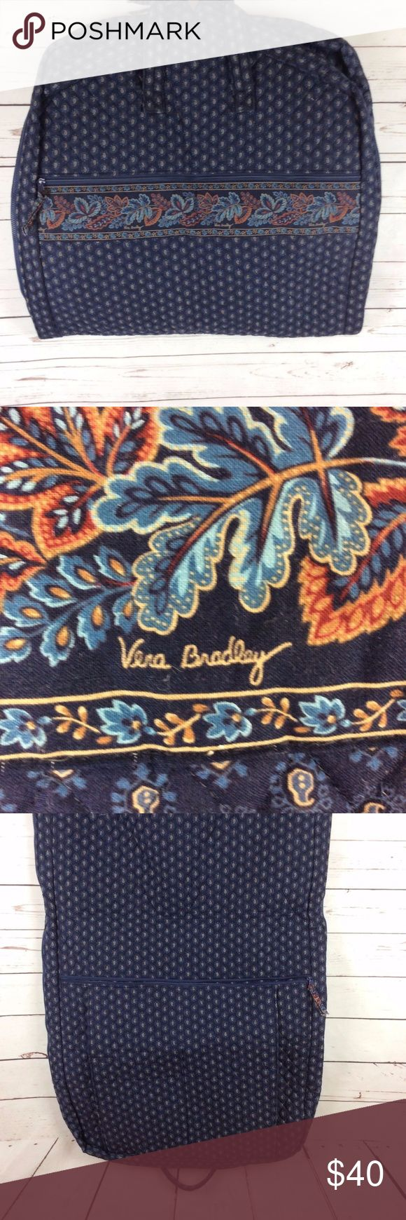 Vera Bradley Garment Bag Navy Floral Vera Bradley Garment Bag Navy Floral - Excellent Condition.  No stains or tears. Great Condition. See photos for details. Vera Bradley Bags Travel Bags