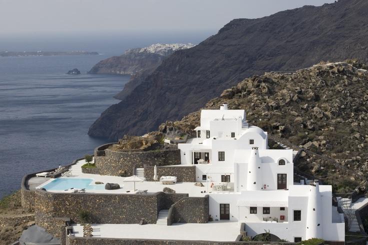 'Aenaon Villas', Santorini, Greece as it looks from the hiking path