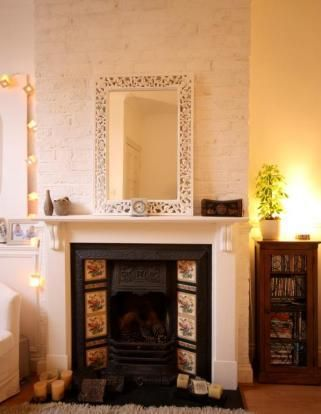 My first house, living room and fire place. Victorian terrace, London.