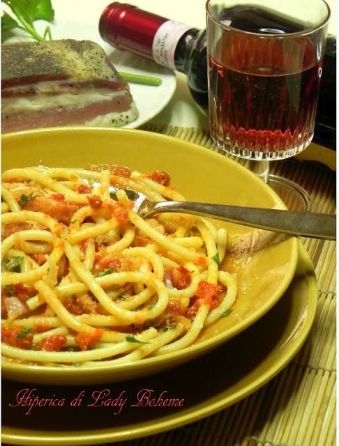Italian food - Bucatini all'amatriciana