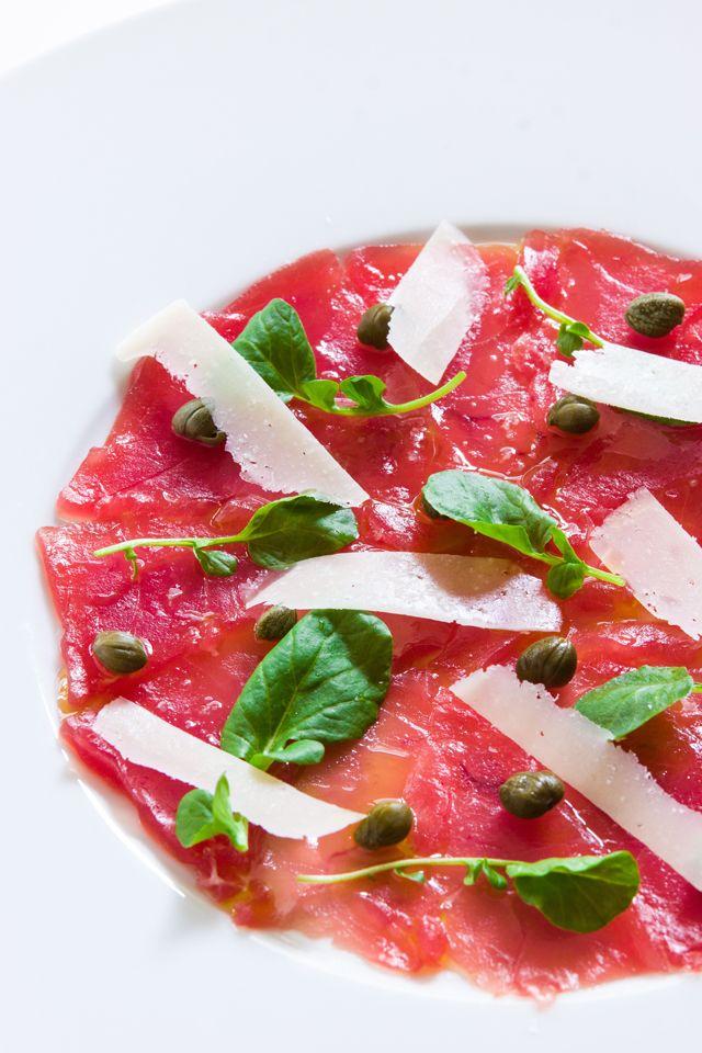 Bigeye Tuna Carpaccio, an update the classic Italian appetizer with paper thin…