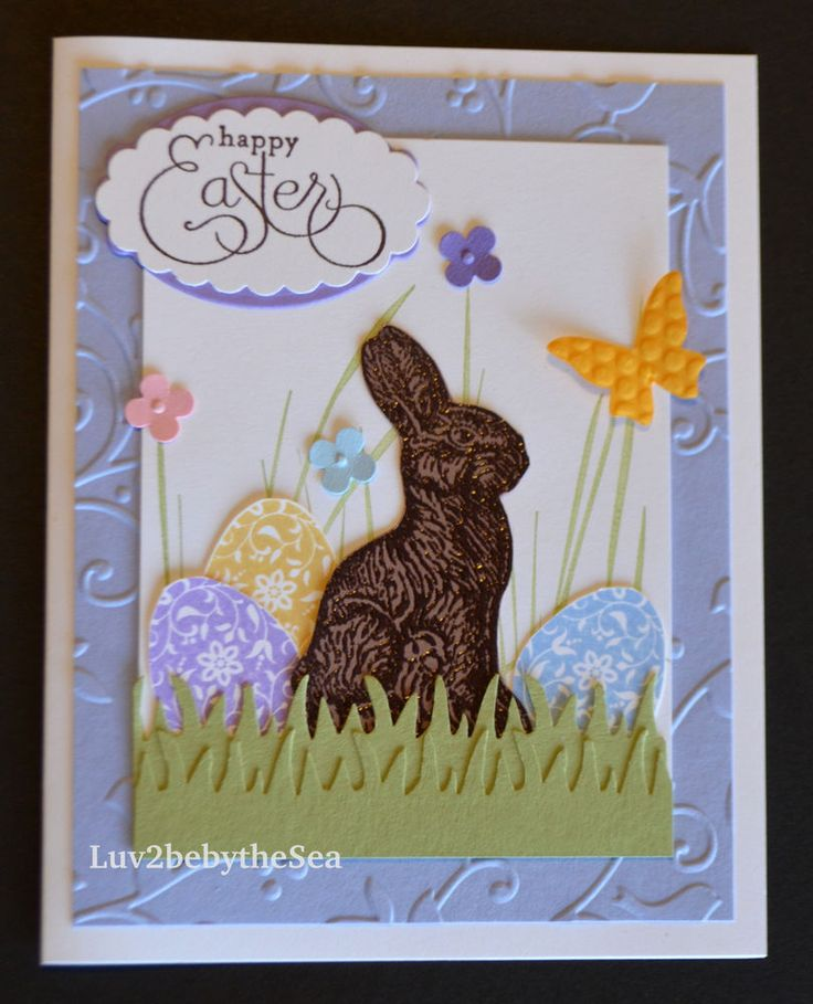 Stampin Up! Chocolate Bunny HAPPY EASTER  card kit (4)  | eBay