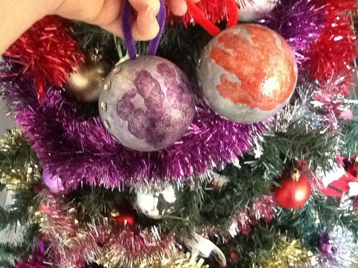 Nos 1eres décos de Noël 16... des jolies boules ���