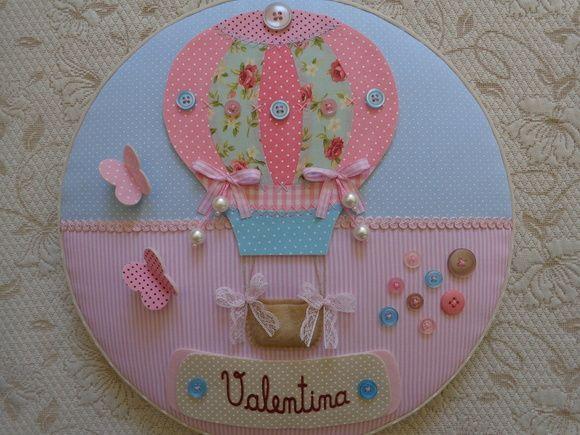Quadro Maternidade Menina Balão