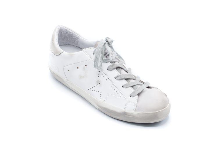 Golden Goose Women's All White Superstar Sneakers