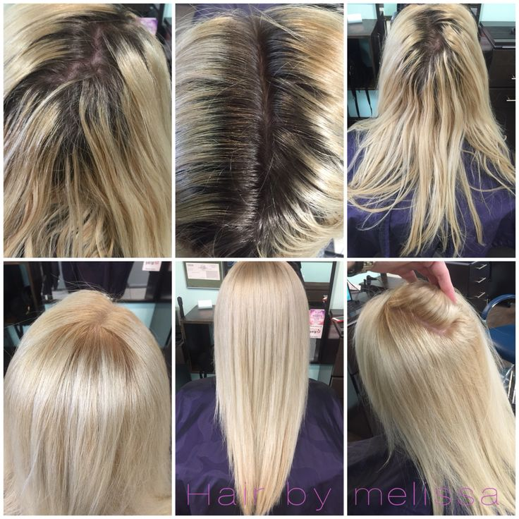 Before And After Using Redken Extra Lift LN And B At Root