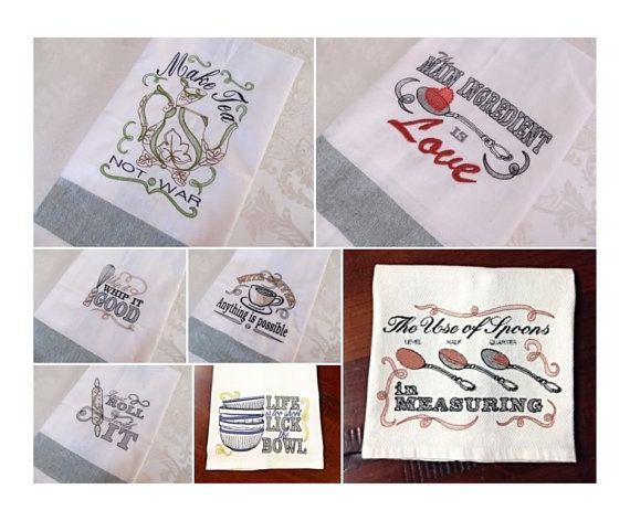 kitchen towel embroidery designs. pack price 7 towel embroidery designs quick stitch by artapli kitchen