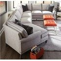 Rowe My Style I & II Transitional Sectional Sofa with Turned Legs and Rolled Arms