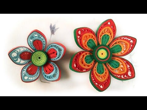 Quilling Flowers Tutorial | How To Make Paper Flower | Advanced Quilling Video - YouTube