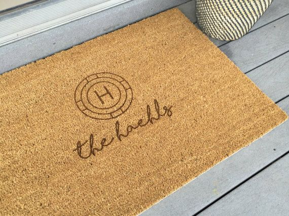 Hey, I found this really awesome Etsy listing at https://www.etsy.com/listing/269730616/door-mat-personalized-laser-engraved-23