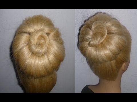 Schnelle Dutt Frisur mit Duttkissen machen.Hochsteckfrisuren.Donut Hair Bun Updo Hairstyle.Peinados - YouTube