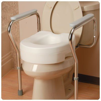 Delta Bath Toilet Seat Safety Grab Bar Support Rail Bathroom Frame ...