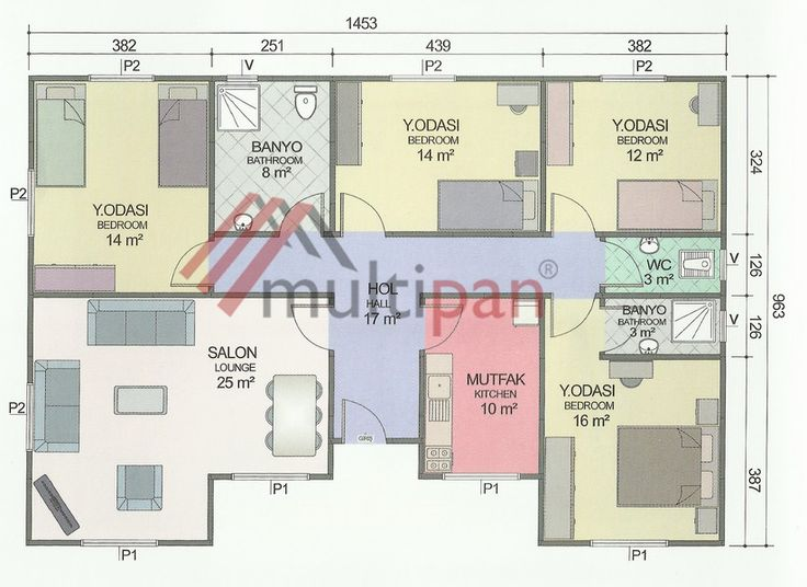 MP9 129 Square Meters Separate Lounge / Kitchen 4 Bedrooms 1 Bathroom