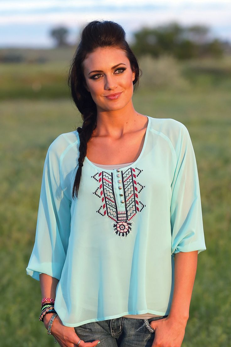 This peasant blouse is to die for! The beautiful color of this shirt alone is enough to please the eye, but the Aztec pattern on the front will truly pull you towards this gorgeous blouse. The pattern - blue blouse womens, sleeveless white blouse, unique blouses and tops *sponsored https://www.pinterest.com/blouses_blouse/ https://www.pinterest.com/explore/blouses/ https://www.pinterest.com/blouses_blouse/womens-blouses/ http://www.motherhood.com/maternity/shirts-and-blouses.asp