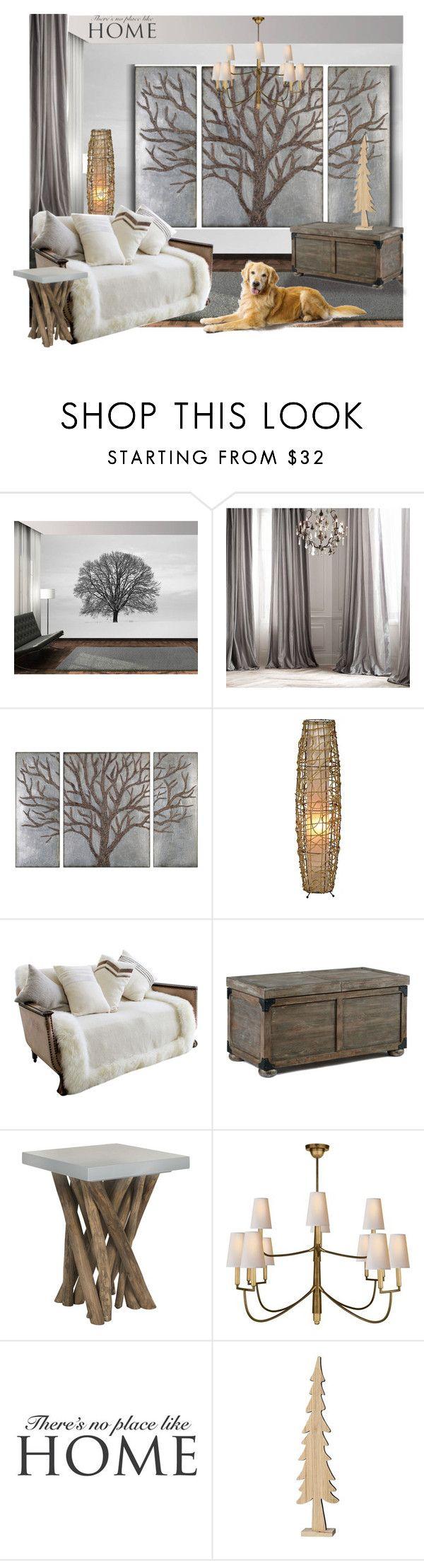 """Untitled #691"" by a-vigh on Polyvore featuring interior, interiors, interior design, thuis, home decor, interior decorating, Restoration Hardware, Pure Lana, Safavieh en Visual Comfort"