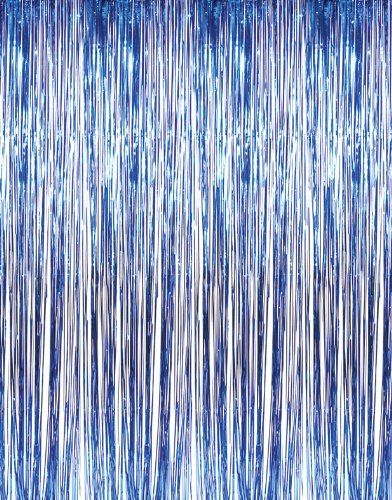Blue Tinsel Foil Fringe Door Window Curtain Party Decoration ...