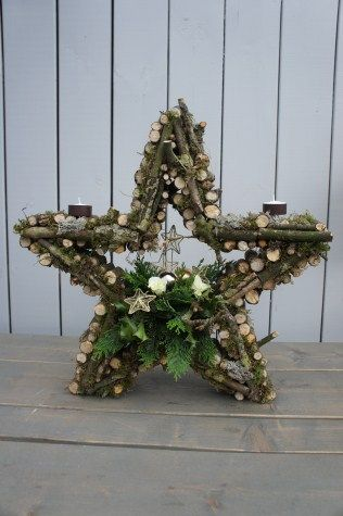 original Christmas star - made with branches
