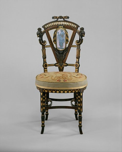 1875 Attributed To Pottier And Stymus Manufacturing Company | Side Chair |  American | The Met