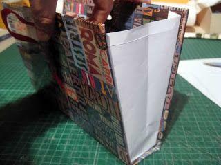 Cartonaje Creativo by Ada: PASO A PASO: Cartera-bolso realizado con la técnica del cartonaje