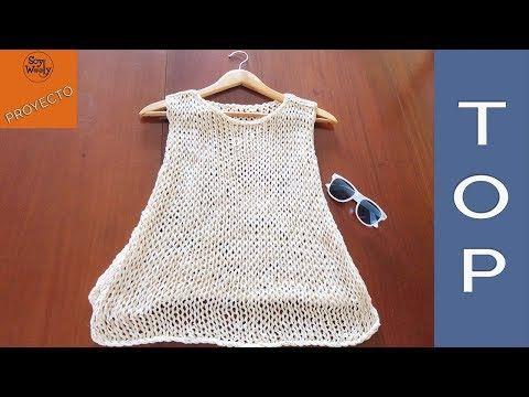 Punto Cruzado para prendas de chicos y chicas en dos agujas - YouTube