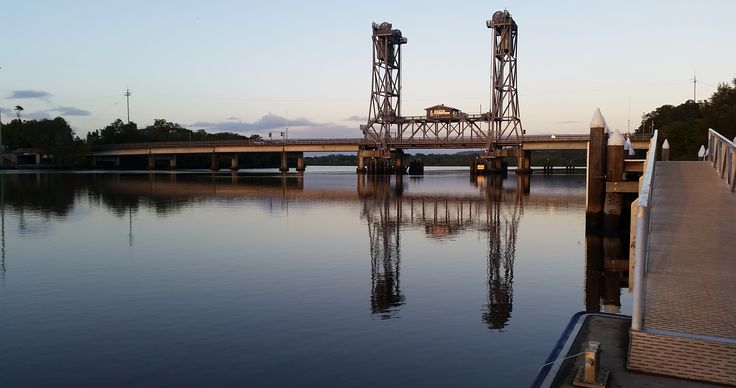 reflections of the Richmond River bridge
